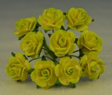 1.5cm MOSS GREEN Mulberry Paper Roses